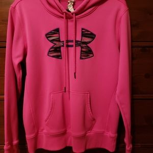 Hot Pink Womens Cold Gear Under Armour Hoodie
